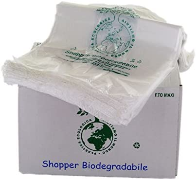 Bolsas biodegradables con asas, compostables, tamaño mini, 23 x 40 ...