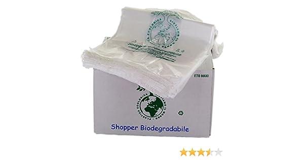 Bolsas biodegradables con asas, compostables, tamaño mini, 23 x 40 cm, 500 unidades