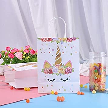 Bestoyard Party Decorations Unicorn Candy Paper Bag 10 Pieces