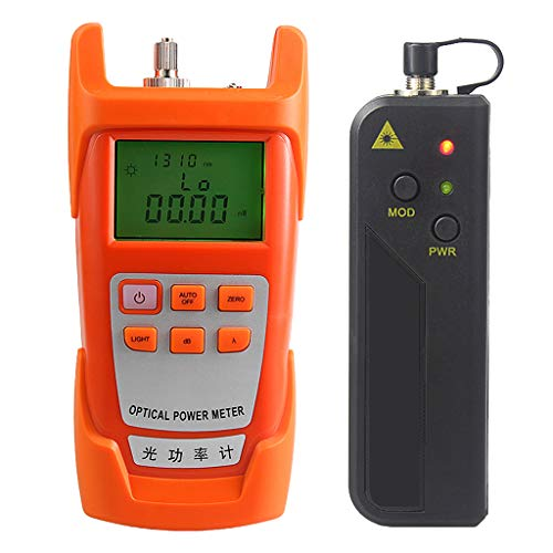 Prettyia A Set Portable Optical Fiber Power Meter Tester Measure -70dBm~+10dBm + 10mW 10KM Visual Fault Locator Fiber Tester Detector Meter Pen (VFL) by Prettyia (Image #3)