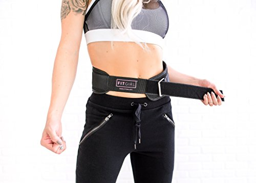 FITGIRL Pink Weight Lifting Belt Gym, Fitness, Bodybuilding Great for Squats, Lunges, Deadlift, Thrusters