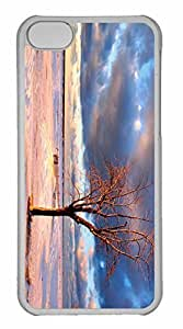 iPhone 5C Case, Personalized Custom Tree On The Beach for iPhone 5C PC Clear Case