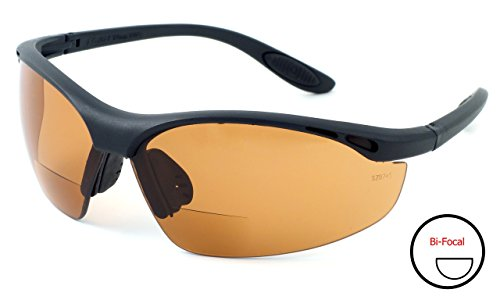 Calabria 91348 Bi-Focal Safety Glasses UV Protection in Copper +2.50