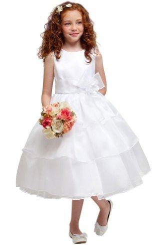 KID Collection Girls White Flower Girl Communion Dress K1220 Size 6
