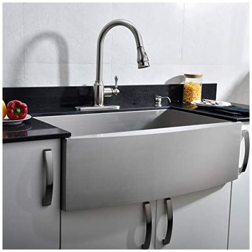"""Farmhouse Kitchen VCCUCINE Farmhouse Sink,Commercial Brushed 30"""" undermount Drop-in Single Bowl Basin Handmade SUS304 Stainless Steel… farmhouse kitchen sinks"""
