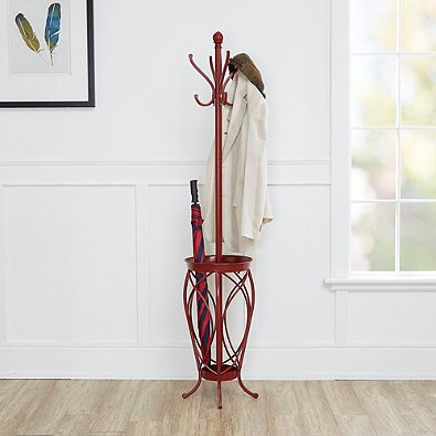 Ampersand Charleston Coat Rack Red