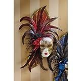 "20"" Venetian (Red) Feathered Italian Venice Venenetian Art Deco Carnival Wall..."