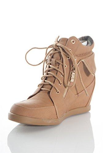 Cammello Sneaker Con Cuneo Alto In Pizzo Peter 2