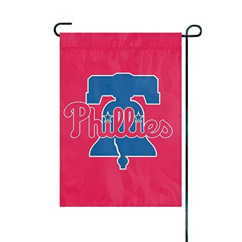 (The Party Animal MLB Philadelphia Phillies MLB Garden Flag, Red, 18
