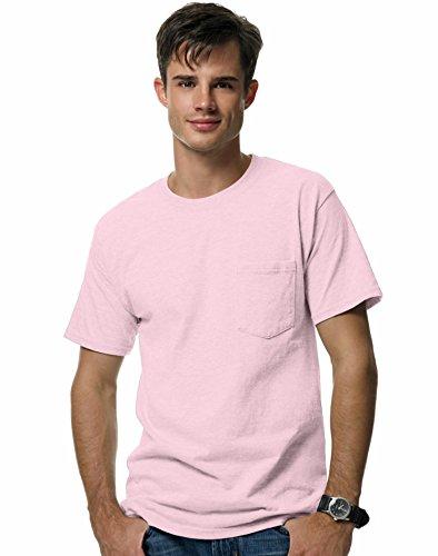 Men's 6.1 oz Hanes BEEFY-T T-Shirt w/Pocket,Pale Pink,3XL US (Chest 54-56)