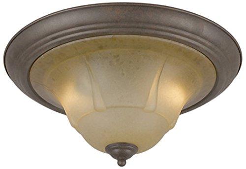 Classic Lighting 69620 RSB TCG Providence, Glass and Steel, Flush/Semi-Flush, Rustic Bronze