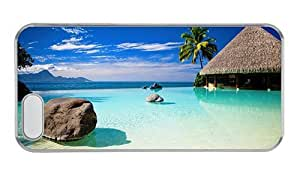 Hipster durable Case For Ipod Touch 5 Cover beach bungalow PC Transparent for Case For Ipod Touch 5 Cover