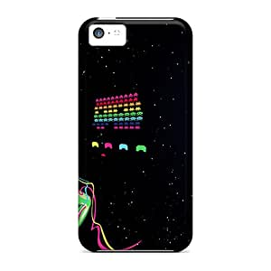 Hot Fashion GAu11147gOEb Design Cases Covers For Iphone 5c Protective Cases (space Invaders)
