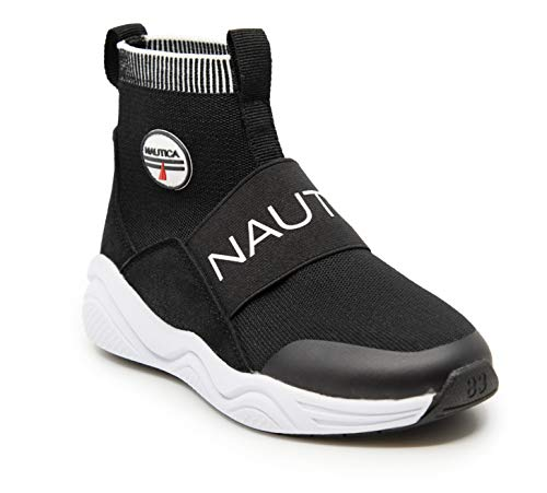 Nautica Kids Boys Silas High-Top Sock Slip-On Sneaker with Extra Ankle Support (Little Kid - Big Kid - Toddler)
