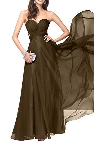 Braun Rock mia Linie Chiffon Ballkleider Festlichkleider Brau Anmutig Abendkleider A Brautmutterkleider La Spitze Partykleider Lang 6OSxqwqT