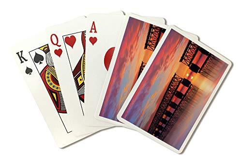Key West, Florida - Bahia Honda Rail Bridge - Photography A-93052 (Playing Card Deck - 52 Card Poker Size with Jokers)