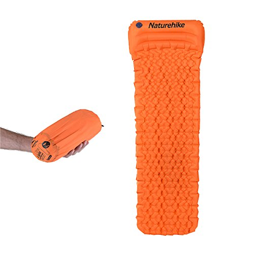 Naturehike Ultralight Sleeping Pad-Inflatable Camping Mat for Backpacking and Hiking,Scout,Hammock,Tent,Cot(Orange)