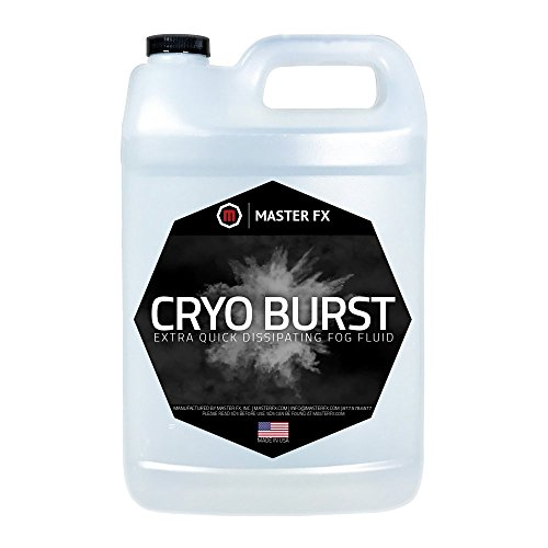 (Cryo Burst - Extra Quick Dissipating Water-Based Fog Fluid - CO2 Blast Effect for LED Upshot Foggers. (1 Gallon))