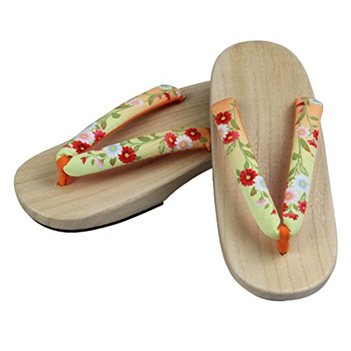 Ez-sofei Womens Japanese Shoes Wooden Geta Clogs C-2-floral(wood Color Sole) bcAkqVSn