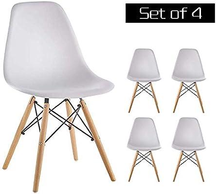 fc39ce173117d Amazon.com - Homy Grigio Dining Chairs DSW Chairs Mid Century Modern ...