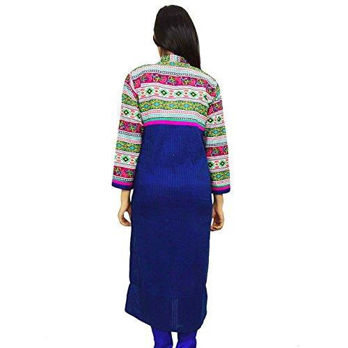 Indias de Bollywood de mujeres de origen Kurti ropa de diseño de la túnica vestido casual Azul
