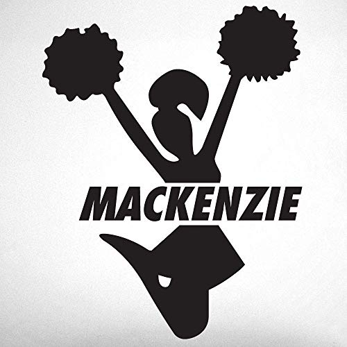 Vinyl Decal Cheerleader - Custom Cheerleading Wall Decal, 0057, Personalized Cheerleader Wall Decal, Cheerleading Theme Wall Decal, Girls Room Vinyl Lettering