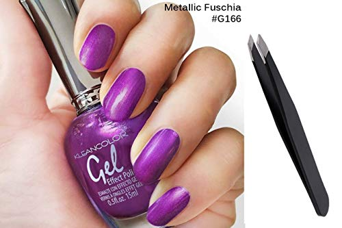 BOTTLE METALLIC FUSCHIA+PROFESSIONAL TWEEZER*