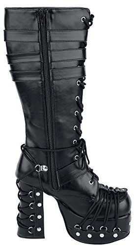206 black Charade Boots Demonia Black q5Ozn