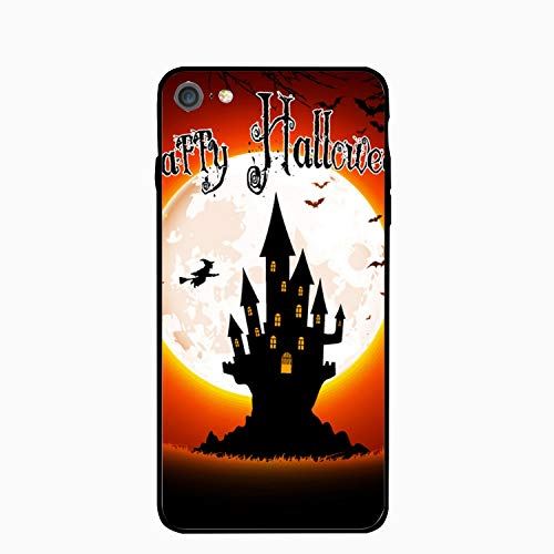 Halloween Scary House Phone 8 Tempering Case, Gel Rubber Full Body Protection Shockproof Cover Case for Phone 8(4.7