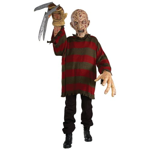 Kids Freddy Krueger Mask (Nightmare on Elm Street Freddy Krueger Creature Reacher Deluxe Oversized Mask and Costume)