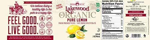 Lakewood Organic Pure Lemon, 32 Ounce (Pack of 6) by Lakewood (Image #3)