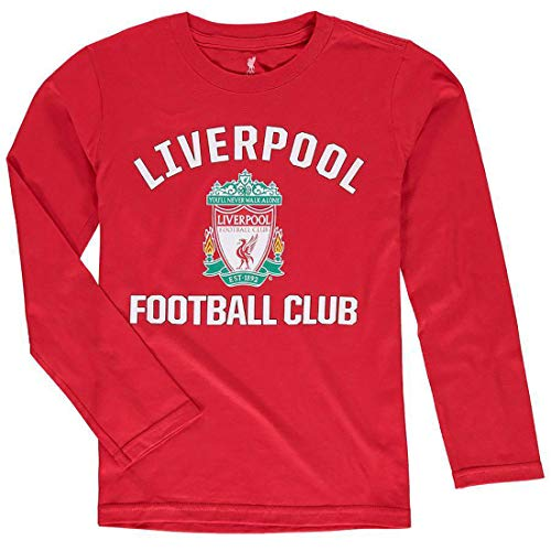Outerstuff International Soccer Youth First Choice Primary Logo Team Long Sleeve Shirt (Medium 10/12, Liverpool Red)