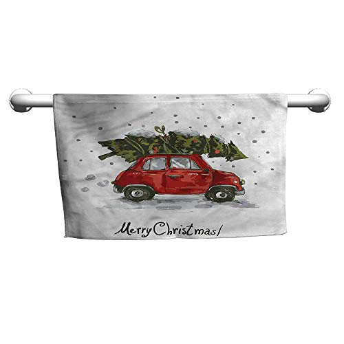 alisoso Christmas,Wholesale Towels Retro Car with Tree W 10