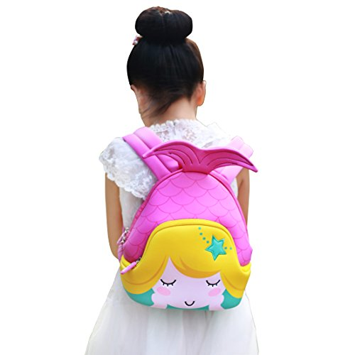 Nohoo Kids Mermaid Backpack 3D Cute Sea Cartoon School Girls twins Bags - Service Customer Email Gucci