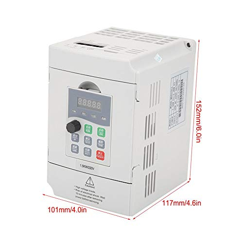 1.5kW General Frequency Inverter Converter Vector Type Single Phase AC 200-240V by Wal front (Image #1)
