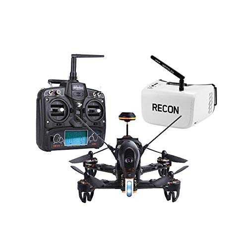 RotorLogic Walkera F210 Racing Quad-Copter RTF with Devo 7 and Fat Shark Recon V2 FPV Goggles Headset Combo