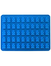Acquisition 50 Cavity Silicone Bear & Chocolate Mold - Make Healthy Sugar Free Candies & Gummy's At Home - 1 Pack. (blue) compare
