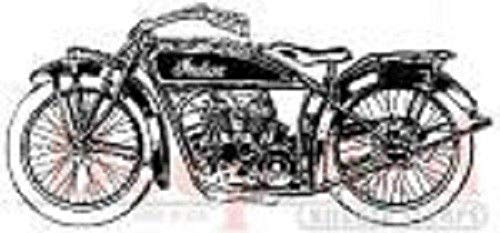ShopForAllYou Stamping & Embossing Rubber Cling Stamp Indian Motorcycle Vintage Style Chopper