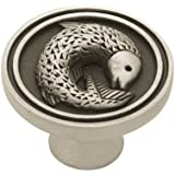 Liberty PBF662-BSP-C 35mm Pisces Fish Kitchen Cabinet Hardware Knob, Brushed Satin Pewter