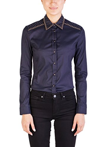 Prada Women's Cotton Nylon Blend Studded Blouse - Clothing Women For Prada