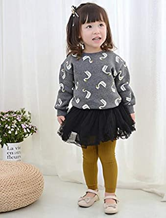 Happy Kido Toddler Baby Basic Ribbed Leggings Footless Tights Kids Little Girls Dress Bottom Pants