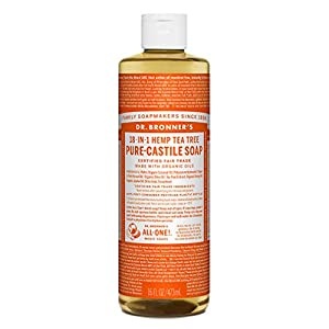 Dr Bronner Organic Tea Tree Castile Liquid Soap 47...