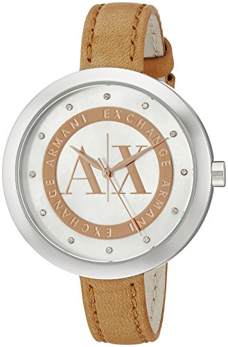 Armani Exchange Women s AX4226 Brown Leather Watch