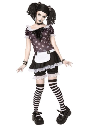 Plus Gothic Rag Doll (1X/2X) (Halloween Rag Doll Costume)