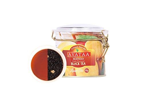Avataa Mango Black Tea: High Grown Ceylon Tea with Dehydrated, Coarse Cut Mango Fruit and 100% Natural Mango Oil (50 Gram/25 Cups) (Ding Ding Ding We Have A Winner)
