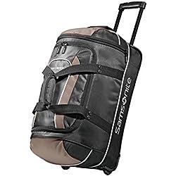 """Samsonite Andante Wheeled 22"""" Duffel Bag in Black/Grey"""