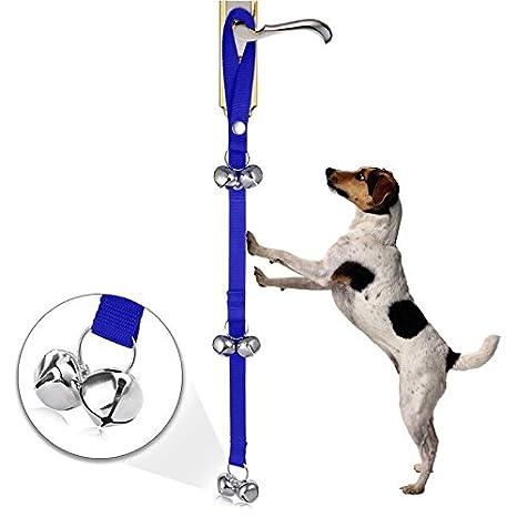GOOTRADES Timbre de Puerta Tinkle Bells Dispositivo con un Clicker para Mascota Perritos Gatos Cachorro Buscar Pista Allanamiento Universal Ajustable de ...
