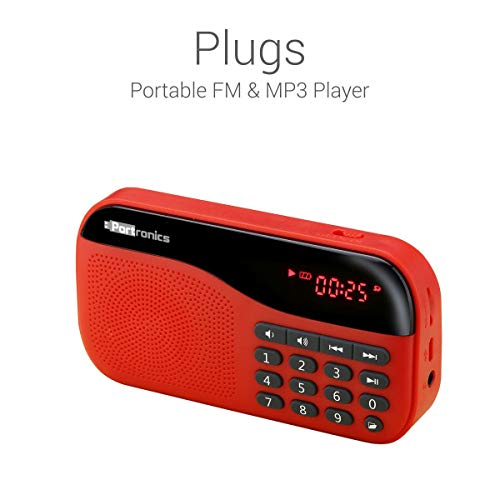 Renewed  Portronics POR 143 Plugs Portable Speaker  Red