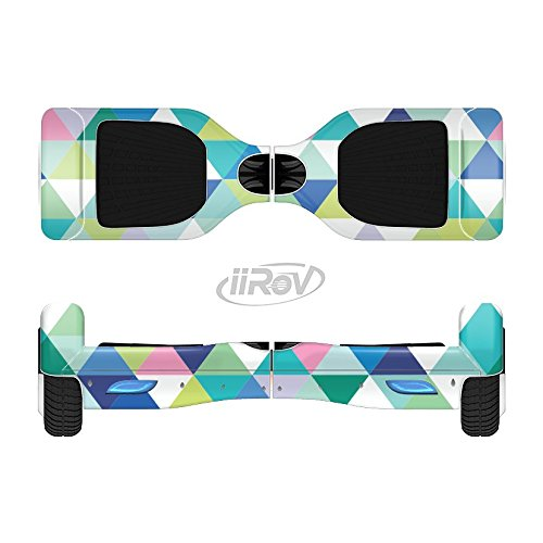The Vibrant Fun Colored Triangular Pattern Full-Body Wrap Skin Kit for the iiRov HoverBoards and other Scooter (HOVERBOARD NOT INCLUDED)
