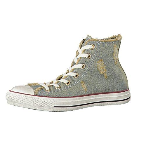 Converse Chuck Taylor All Star Denim Hi, BAll Starkets mode femme Blu